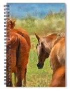 Heading Home Painterly Spiral Notebook