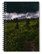 Heading Home Through The Meadow Spiral Notebook