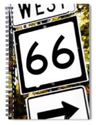 Heading West On Route 66 Spiral Notebook
