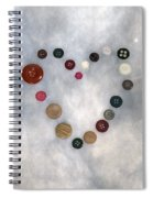 Heart Of Buttons Spiral Notebook