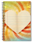 Heart Paper Retro Design Spiral Notebook