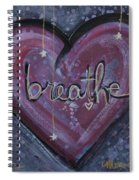 Heart Says Breathe Spiral Notebook