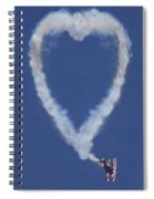 Heart Shape Smoke And Plane Spiral Notebook