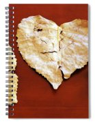 Heart Shaped Leaves Spiral Notebook