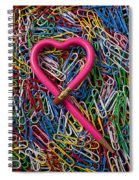 Heart Shaped Pink Pencil Spiral Notebook