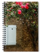Heart Shutters And Red Roses Spiral Notebook