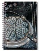 Heart Waffle Iron Spiral Notebook