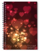 Hearts Background Spiral Notebook