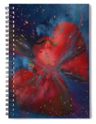 Hearts In Space Spiral Notebook