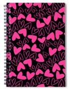 Hearts Spiral Notebook