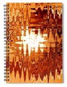 Heat Wave - Abstract Art Spiral Notebook