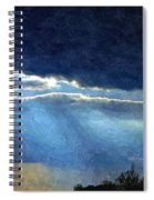 Heaven Opening To Let Out The Sun Painterly Style Spiral Notebook