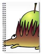 Hedgehog With Apple Spiral Notebook