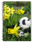Hello Spring. Ginny From Travelling Pandas Series. Spiral Notebook