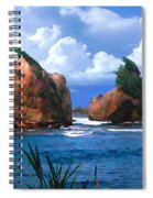 Hells Gate Rocks Near Calibishie Dominica Spiral Notebook