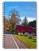 Helvetia Wv Painted Spiral Notebook