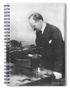 Henry Rowland, American Physicist Spiral Notebook