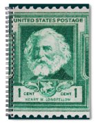 Henry W Longfellow Postage Stamp Spiral Notebook