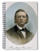 Henry Ward Beecher (1813-1887). American Clergyman. At Age 50: Steel Engraving, 19th Century Spiral Notebook