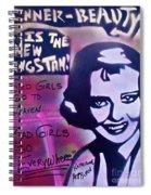 Hepburn Gangstah Spiral Notebook