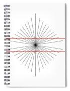 Hering Illusion Spiral Notebook