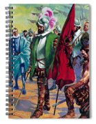 Hernando Cortes Arriving In Mexico In 1519 Spiral Notebook