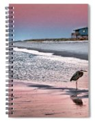 Heron And Beach House Spiral Notebook