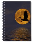 Heron And The Harvest Moon Spiral Notebook
