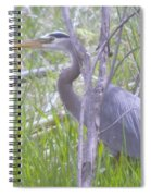 Heron In The Shade  Spiral Notebook