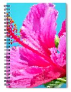 Hibiscus Crystal Luster Spiral Notebook