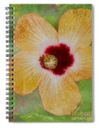 Hibiscus Gold And Red Spiral Notebook