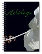 Hibiscus Holiday Card Spiral Notebook