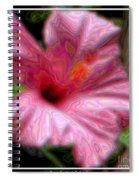 Hibiscus With A Blurred Enamel Effect Spiral Notebook