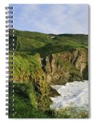High Angle View Of A Coast, County Spiral Notebook