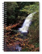 High Angle View Of A Waterfall, Glenoe Spiral Notebook