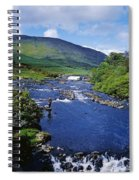 High Angle View Of A Waterfall Spiral Notebook