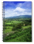 High Angle View Of Fields On A Spiral Notebook