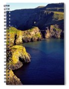 High Angle View Of Rock Formations In Spiral Notebook