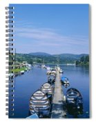 High Angle View Of Rowboats In The Spiral Notebook