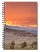 High Park Wildfire At Sunset Spiral Notebook