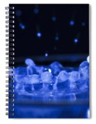 High-speed Flash Photograph Liquid Coronet. Spiral Notebook
