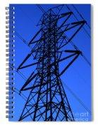 High Voltage Power Line Silhouette Spiral Notebook