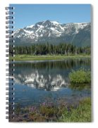 High Water Mt Tallac Reflections Spiral Notebook