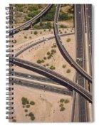 Highway Planet Art Spiral Notebook