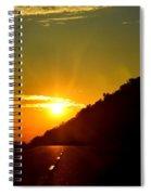Highway Sunrise 2 Spiral Notebook