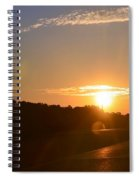 Highway Sunrise Spiral Notebook