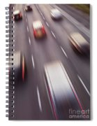 Highway Traffic In Motion Spiral Notebook