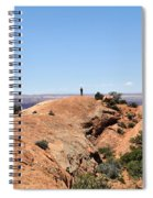 Hiker At Edge Of Upheaval Dome - Canyonlands Spiral Notebook