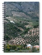 Hills Dales And Vineyards Spiral Notebook