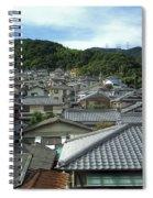 Hillside Village In Japan Spiral Notebook